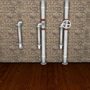 wall pipes deco