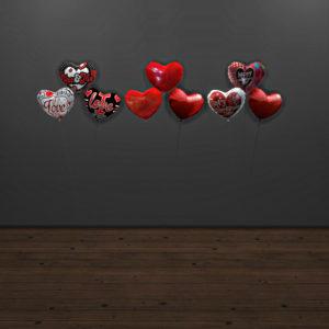 mila heart balloons