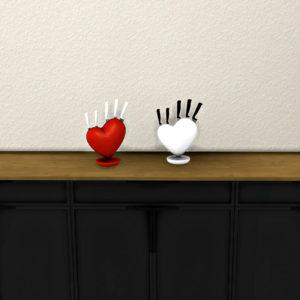 heart knife holder