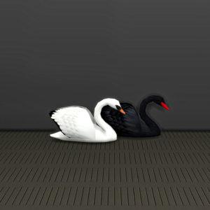deco swans