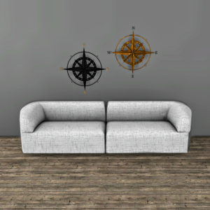 wall compass deco