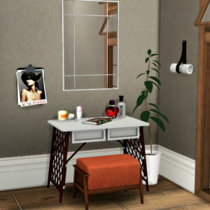 vanity clutter