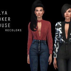 ellya choker blouse